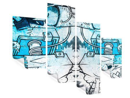 Poster 4-teilig modern Graffiti