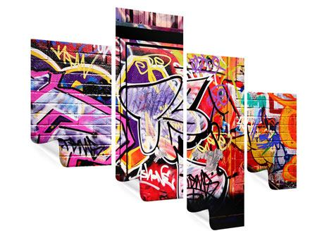 Poster 4-teilig modern Graffiti Kunst