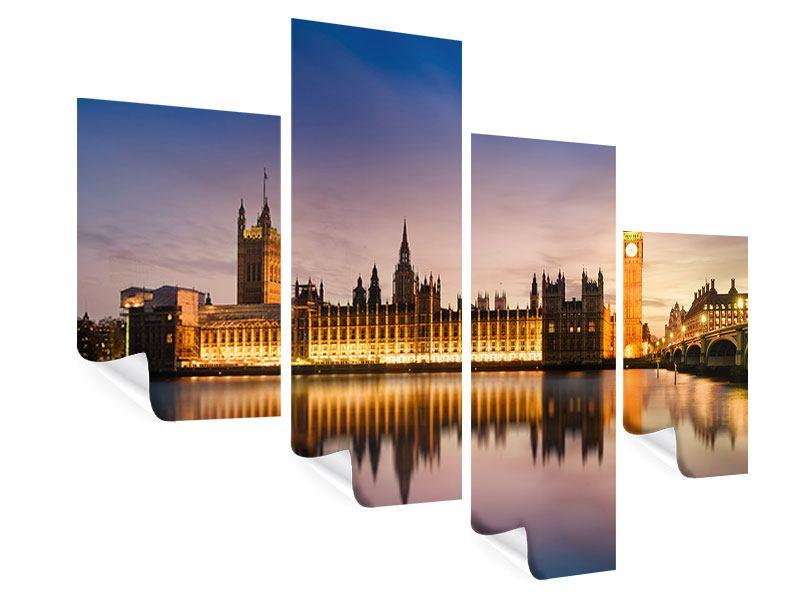 Poster 4-teilig modern Big Ben in der Nacht