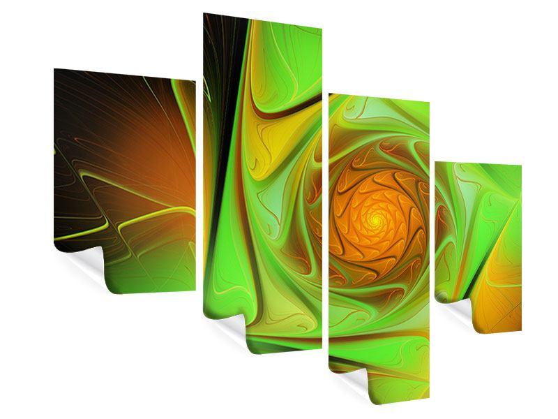 Poster 4-teilig modern Abstraktionen