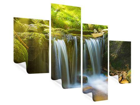 Poster 4-teilig modern Schönheit des fallenden Wassers