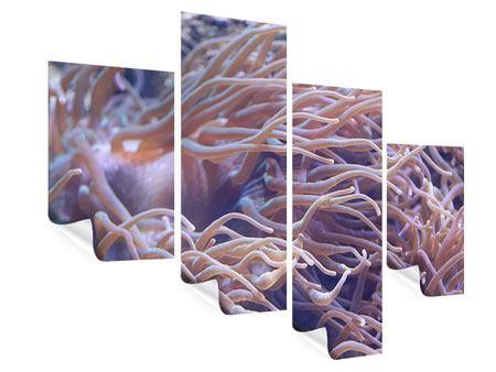 Poster 4-teilig modern Korallenriff