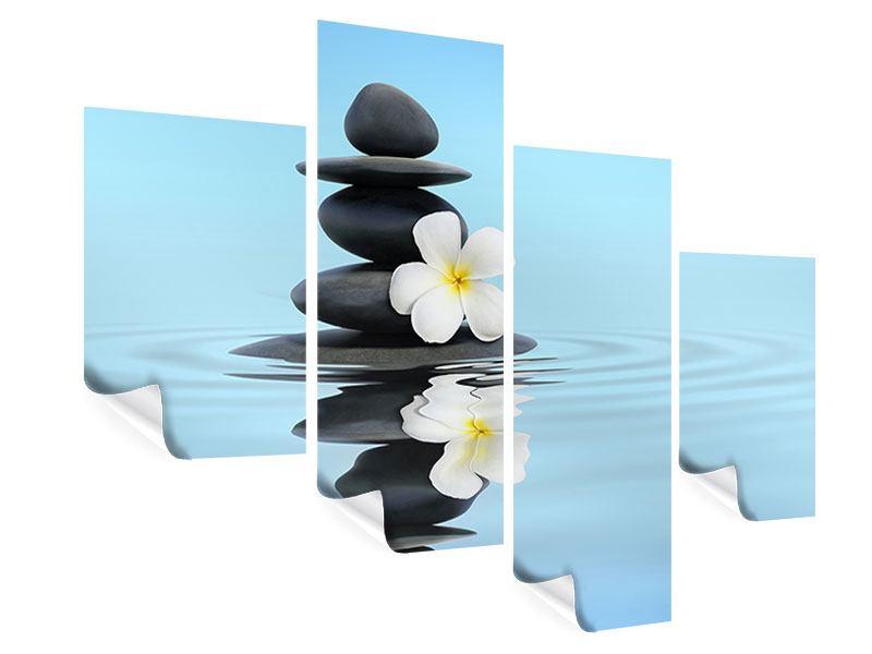 Poster 4-teilig modern Zen Steine