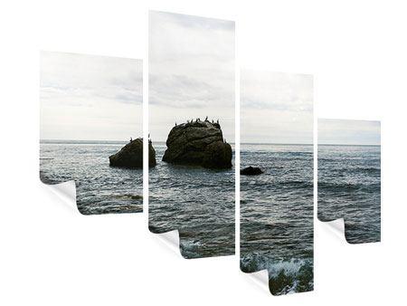 Poster 4-teilig modern Leise Wellen