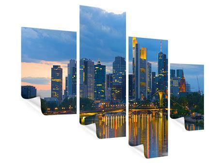 Poster 4-teilig modern Skyline Frankfurt am Main