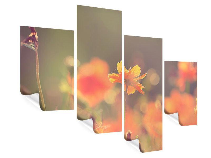 Poster 4-teilig modern Blütenpracht
