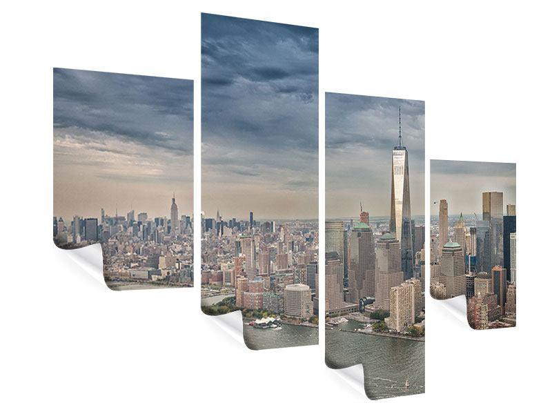 Poster 4-teilig modern Skyline Manhattan