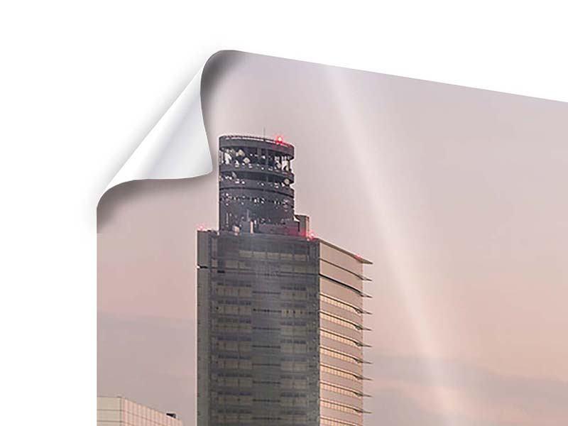 Poster 4-teilig modern Skyline Das Lichtermeer von Tokio