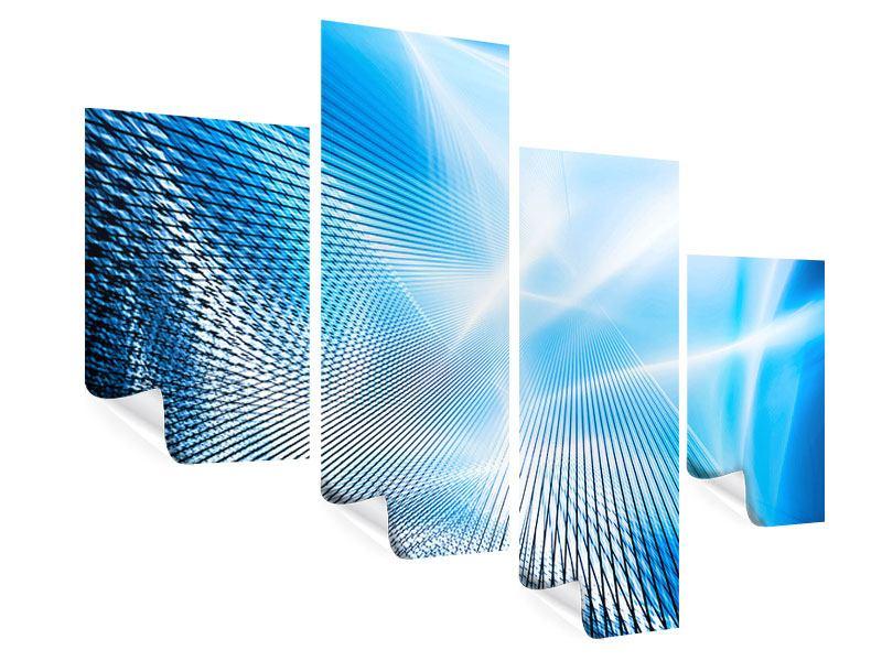 Poster 4-teilig modern Laser
