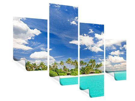 Poster 4-teilig modern Meine Insel