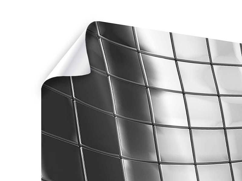 Poster 4-teilig modern Abstrakter Stahl