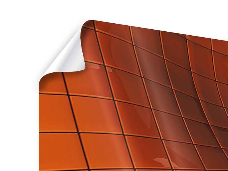 Poster 4-teilig modern 3D-Kacheln