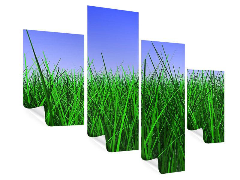 Poster 4-teilig modern Im Gras