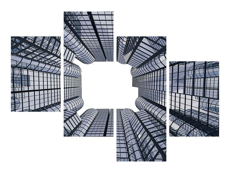 Poster 4-teilig modern Besondere Perspektive