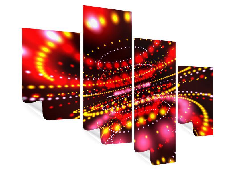 Poster 4-teilig modern Abstraktes Lichtspiel