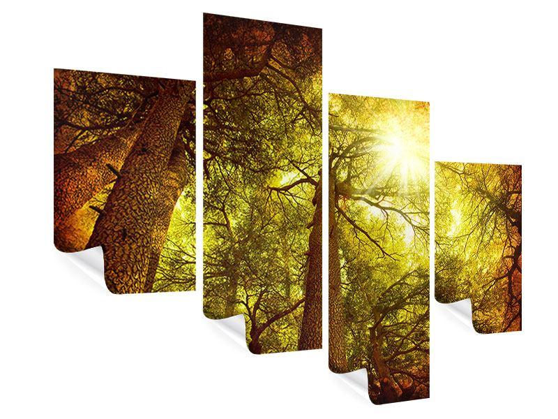 Poster 4-teilig modern Cedar Baum