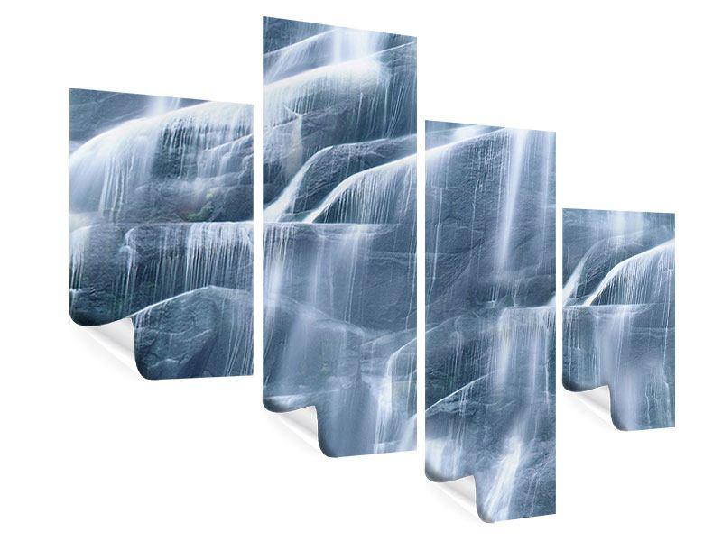 Poster 4-teilig modern Grossartiger Wasserfall