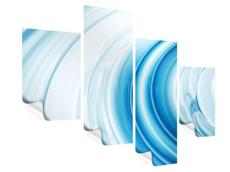 Poster 4-teilig modern Abstraktes Glas