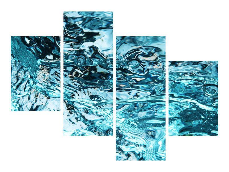 Poster 4-teilig modern Schönheit Wasser