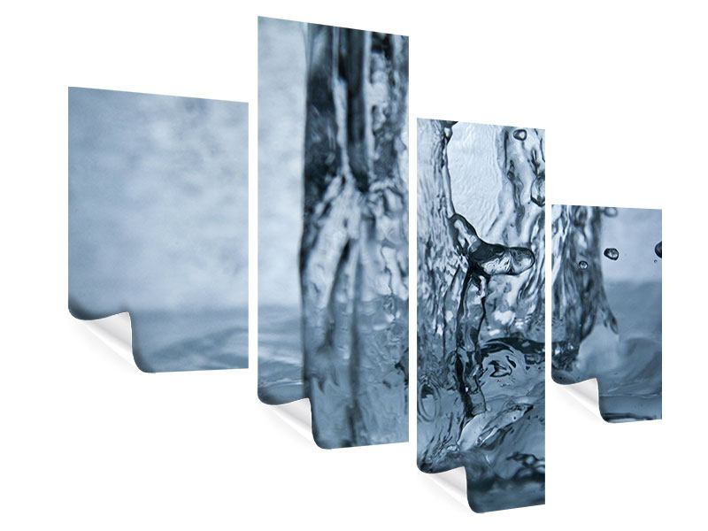 Poster 4-teilig modern Wasserdynamik