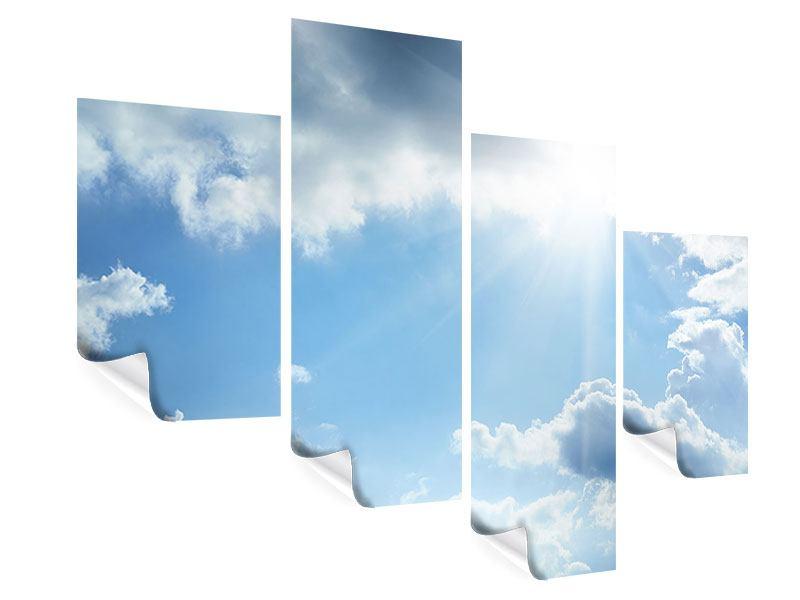 Poster 4-teilig modern Himmelshoffnung