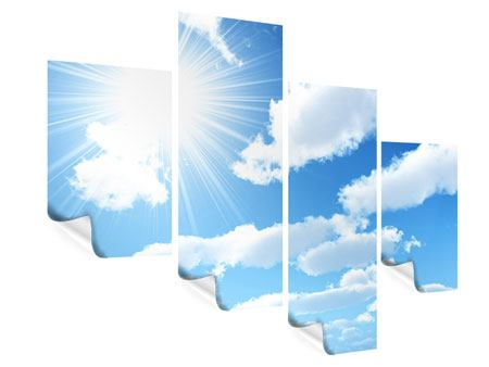 Poster 4-teilig modern Am Himmel
