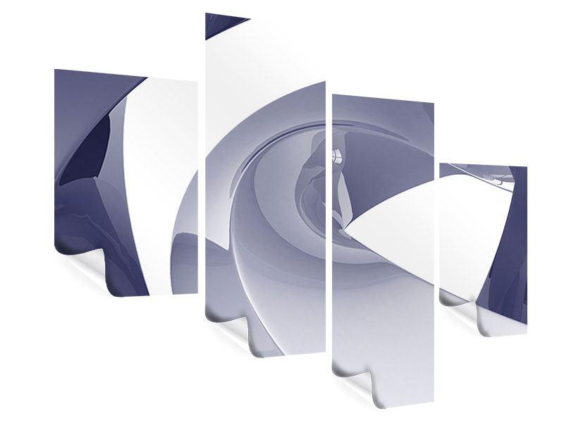 Poster 4-teilig modern Abstrakte Schwingungen