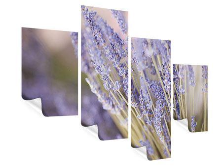 Poster 4-teilig modern Lavendel XXL