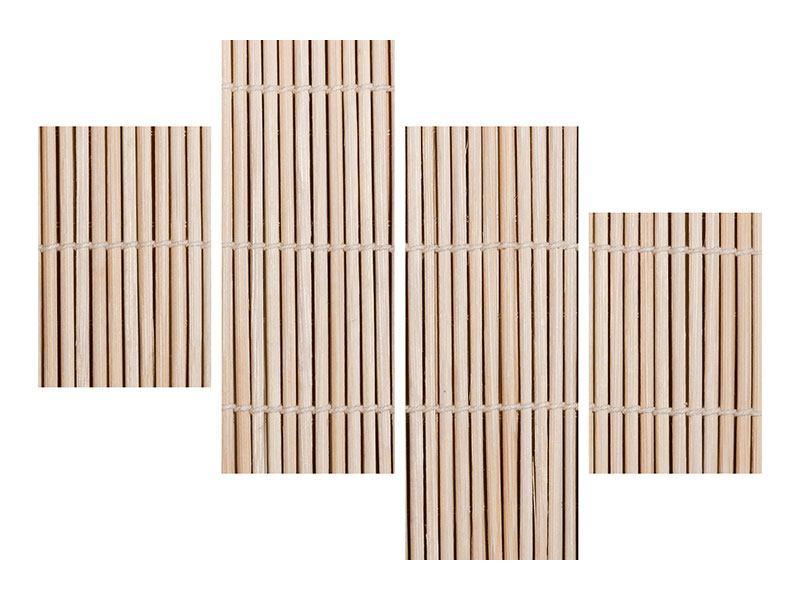 Poster 4-teilig modern Lucky Bamboo