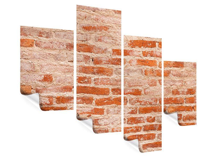 Poster 4-teilig modern Mauerwerk
