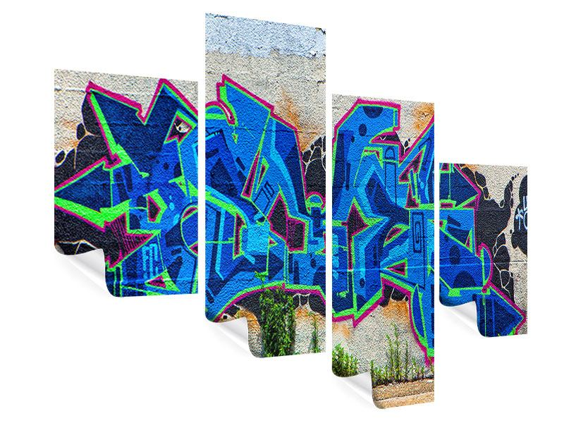 Poster 4-teilig modern Graffiti NYC