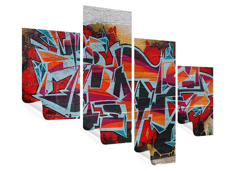 Poster 4-teilig modern New York Graffiti