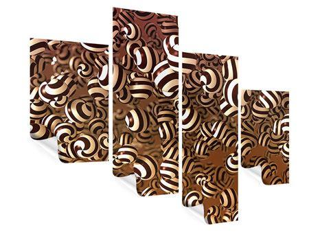 Poster 4-teilig modern Schokoladen-Bonbons