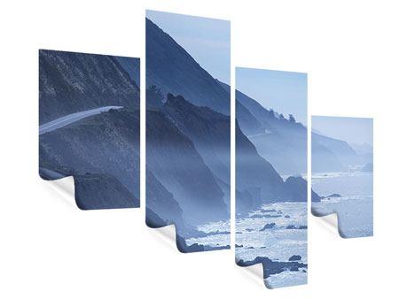 Poster 4-teilig modern Bewegung im Wasser