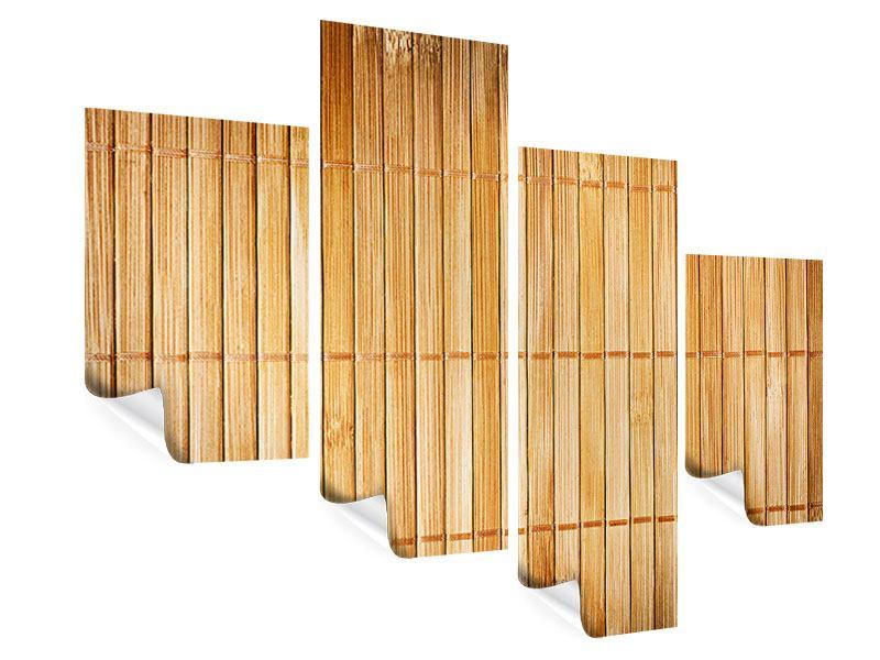 Poster 4-teilig modern Bambusrohre