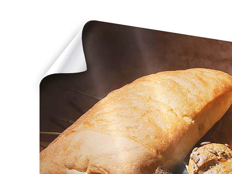 Poster 4-teilig modern Frühstücksbrote