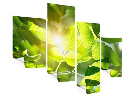 Poster 4-teilig modern Es grünt so grün