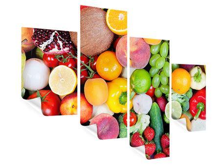Poster 4-teilig modern Frisches Obst