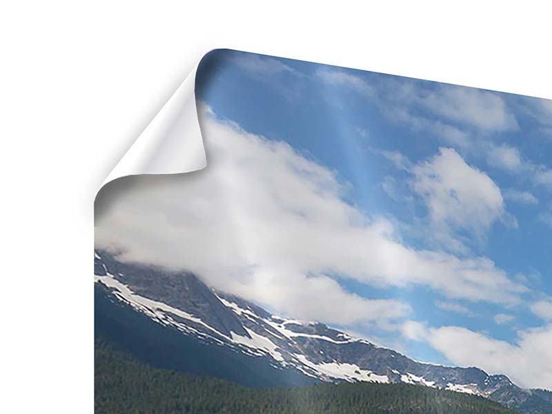 Poster 4-teilig modern Diablo Bergsee