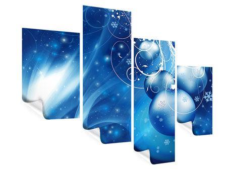 Poster 4-teilig modern Shingle Bells