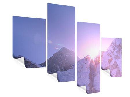 Poster 4-teilig modern Sonnenaufgang beim Mount Everest