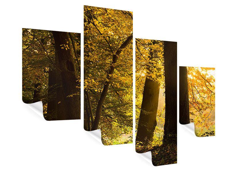 Poster 4-teilig modern Herbstlaub