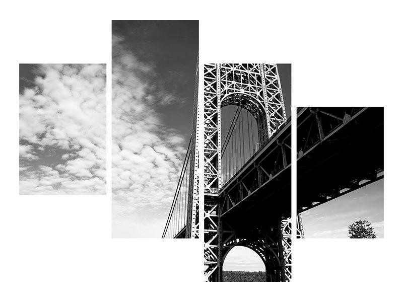Poster 4-teilig modern Georg-Washington-Bridge