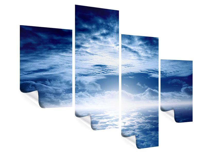 Poster 4-teilig modern Mystischer Himmel
