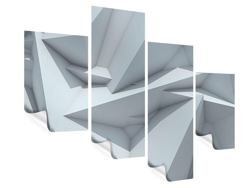 Poster 4-teilig modern 3D-Kristallo
