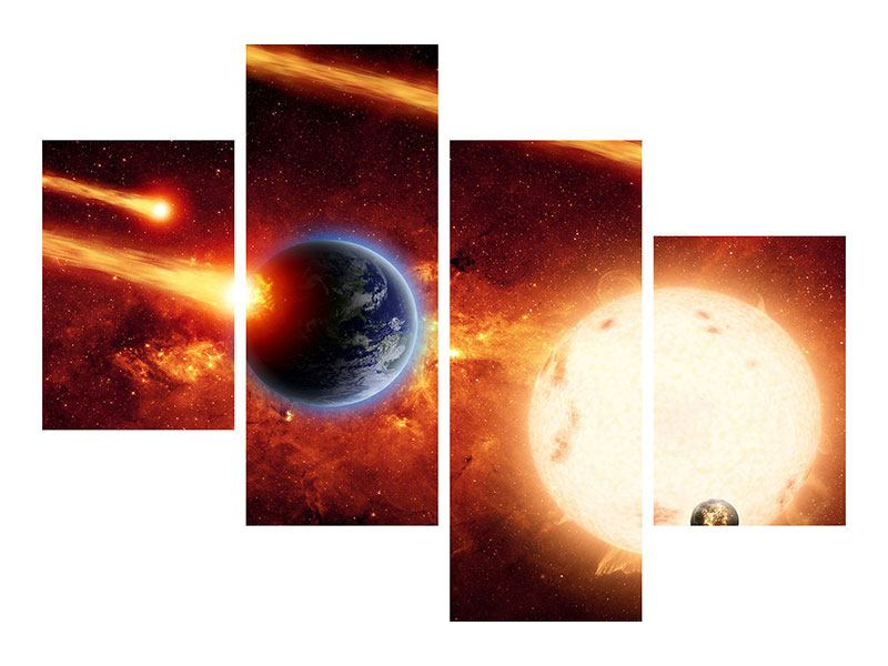 Poster 4-teilig modern Der Kosmos