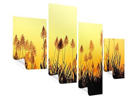 Poster 4-teilig modern Die Blumen des Feldes
