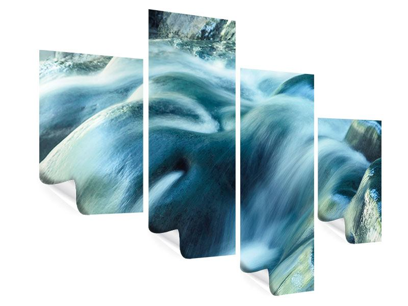 Poster 4-teilig modern Das Fliessende Wasser