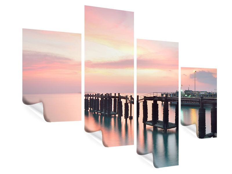 Poster 4-teilig modern Der beruhigende Sonnenuntergang
