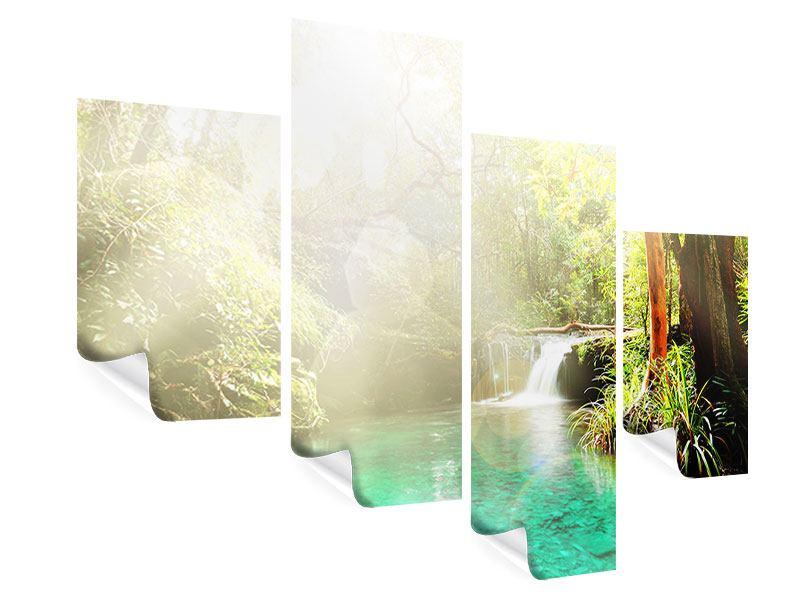 Poster 4-teilig modern Die grüne Lagune